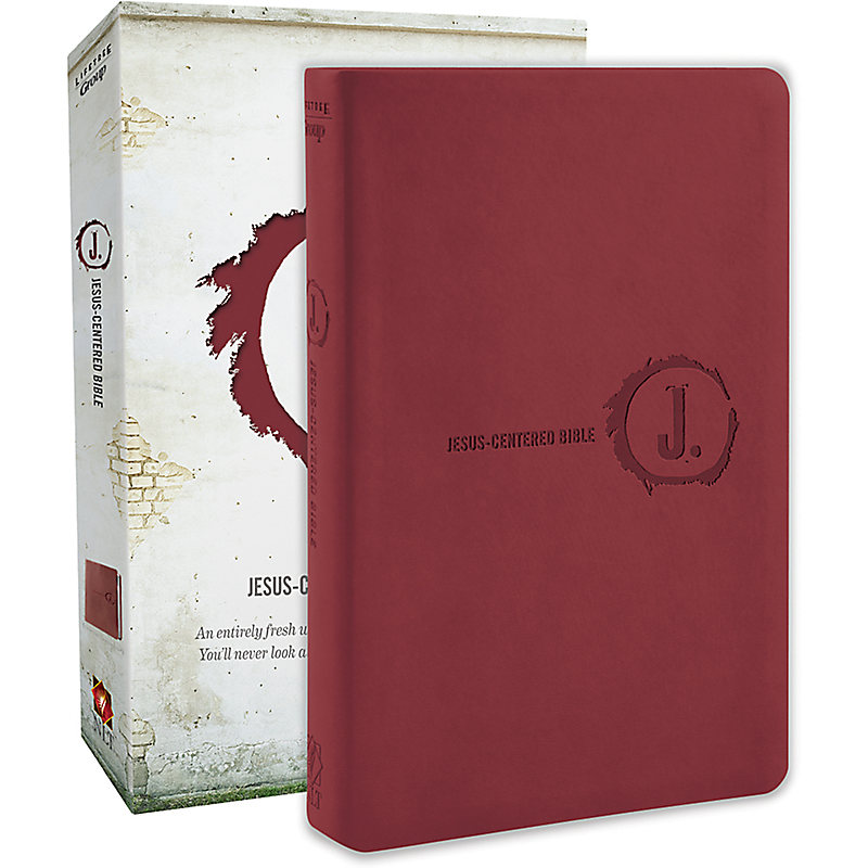 Jesus-Centered Bible NLT, Cranberry