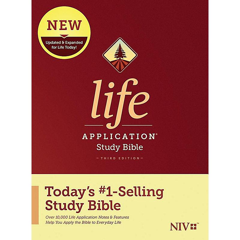 NIV Life Application Study Bible, Third Edition, Hardback
