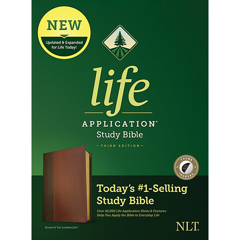 NLT Life Application Study Bible, Third Edition, Simulated Leather, Brown/Tan, Indexed