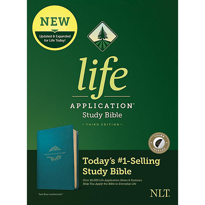 NLT Life Application Study Bible, Third Edition, Simulated Leather, Teal, Indexed