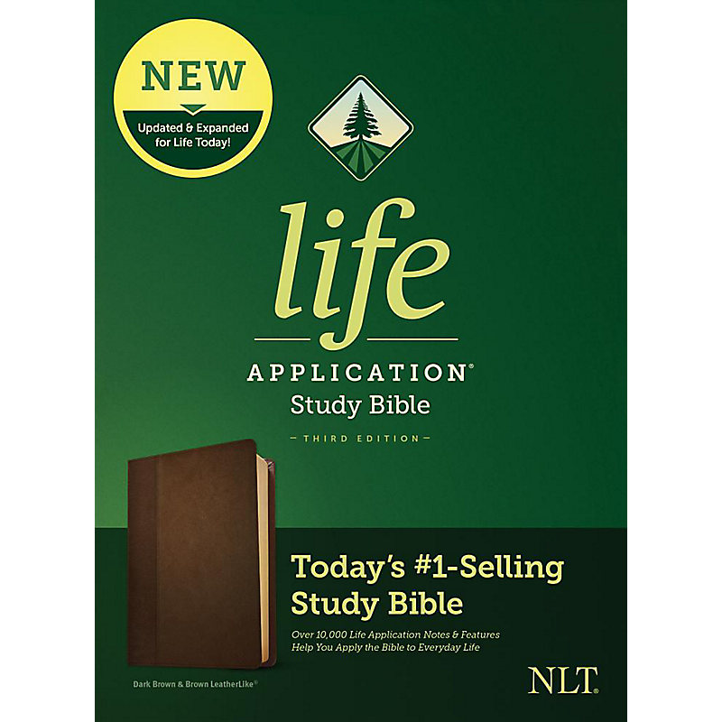 NLT Life Application Study Bible, Third Edition, Simulated Leather, Dk Brown/Brown