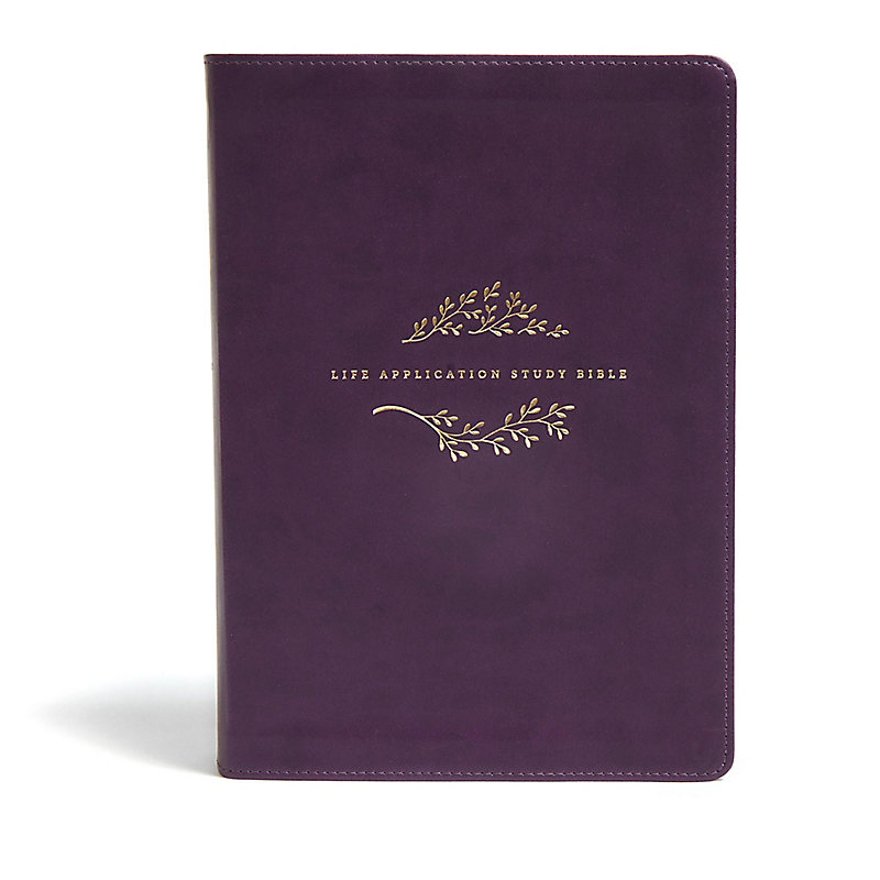 NLT Life Application Study Bible, Third Edition, Simulated Leather, Purple
