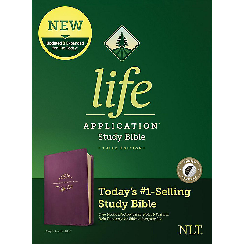 NLT Life Application Study Bible, Third Edition, Simulated Leather, Purple, Indexed