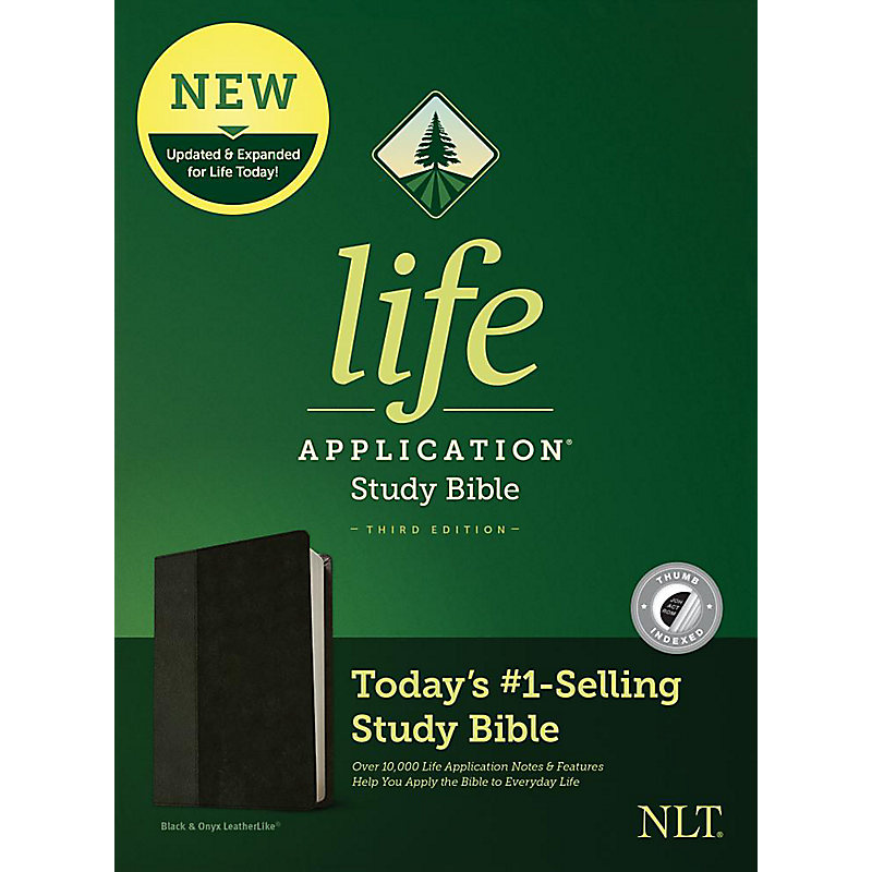 NLT Life Application Study Bible, Third Edition, Simulated Leather, Black, Indexed