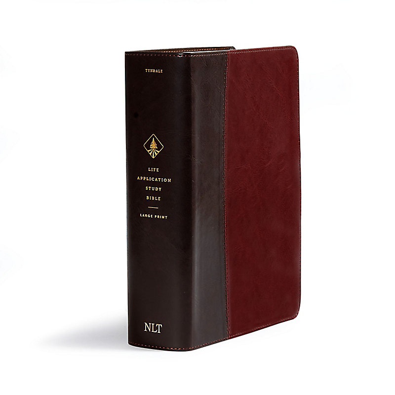 NLT Life Application Study Bible, Third Edition, Large Print (Red Letter, Leatherlike, Brown/Tan)