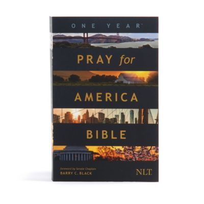 The One Year Pray for America Bible NLT