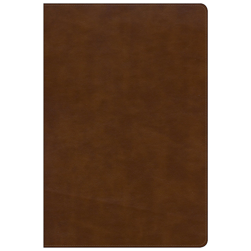 NKJV Large Print Ultrathin Reference Bible Black Letter Edition, British Tan LeatherTouch