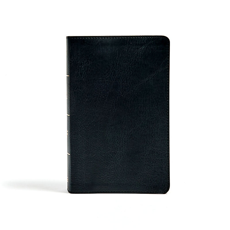 CSB Single-Column Personal Size Bible, Black LeatherTouch