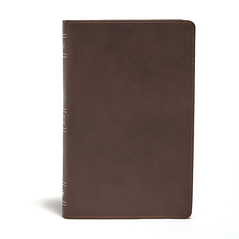 KJV Ultrathin Reference Bible, Brown Genuine Leather, Indexed