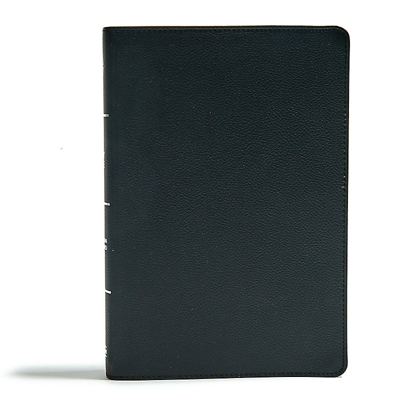 CSB Super Giant Print Reference Bible, Black Genuine Leather, Indexed