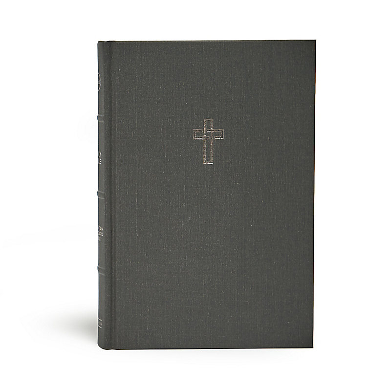 CSB Large Print Ultrathin Reference Bible, Charcoal Cloth-Over- Board, Black Letter Edition
