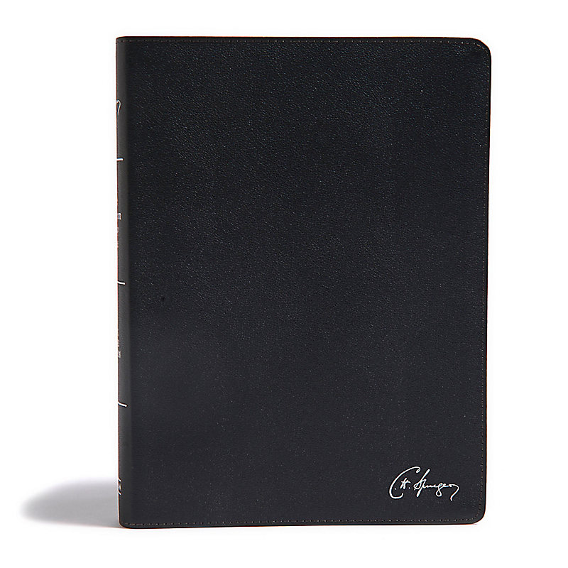KJV Spurgeon Study Bible, Black Genuine Leather
