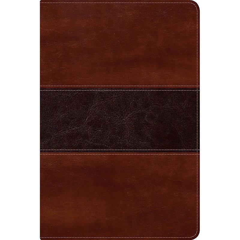 NVI Biblia del Pescador letra grande,  caoba símil piel