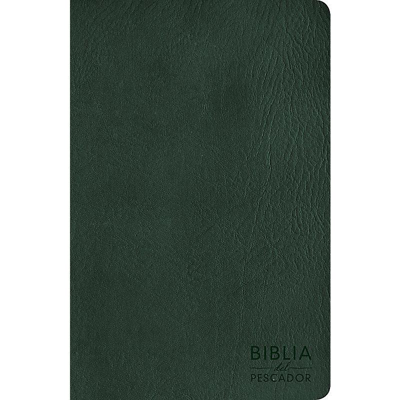 NVI Biblia del Pescador letra grande, verde símil piel
