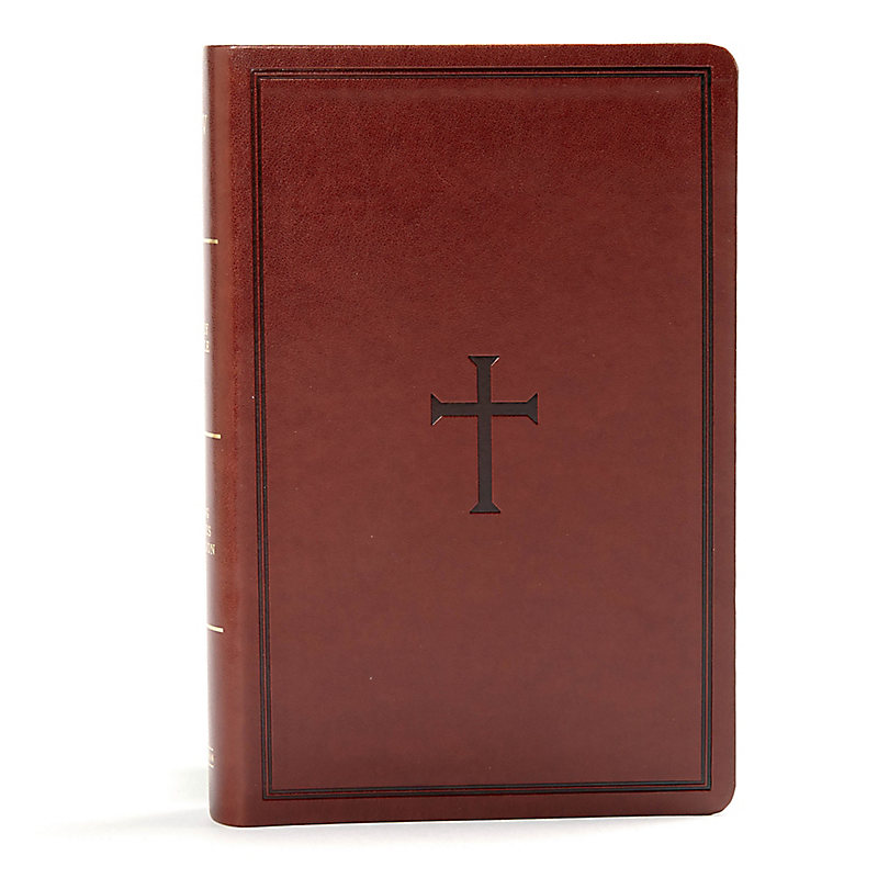 KJV Large Print Personal Size Reference Bible, Brown Leathertouch Indexed