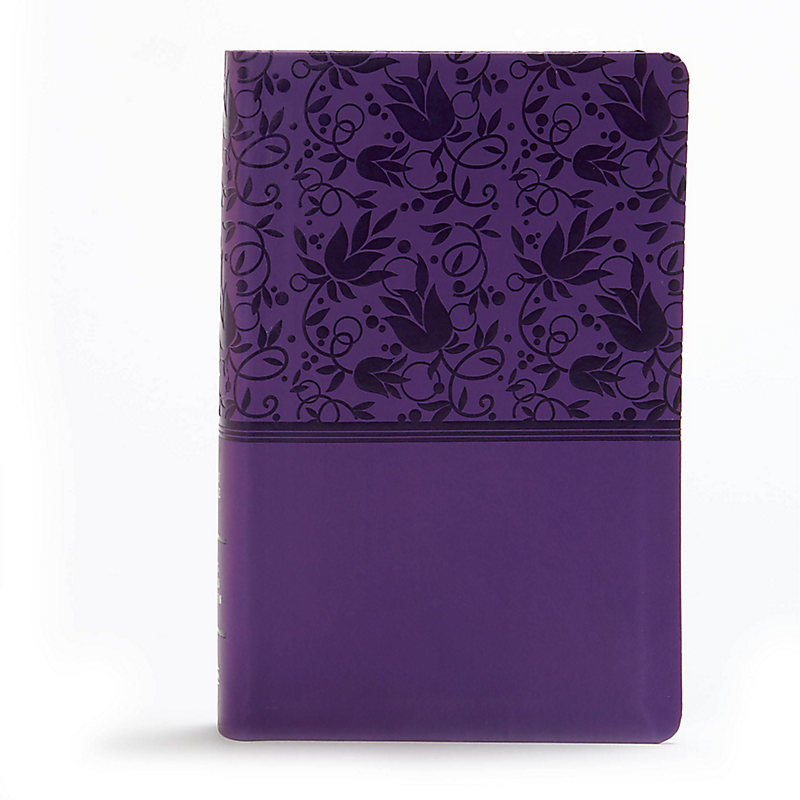KJV Large Print Personal Size Reference Bible, Purple Leathertouch Indexed