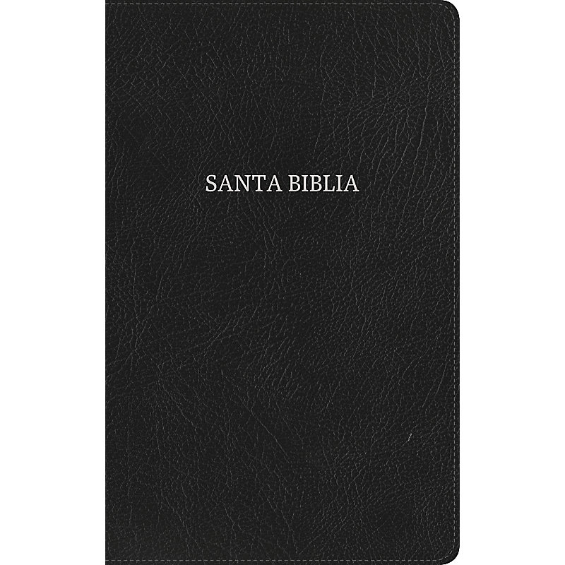 NVI Biblia Ultrafina, negro piel fabricada con índice