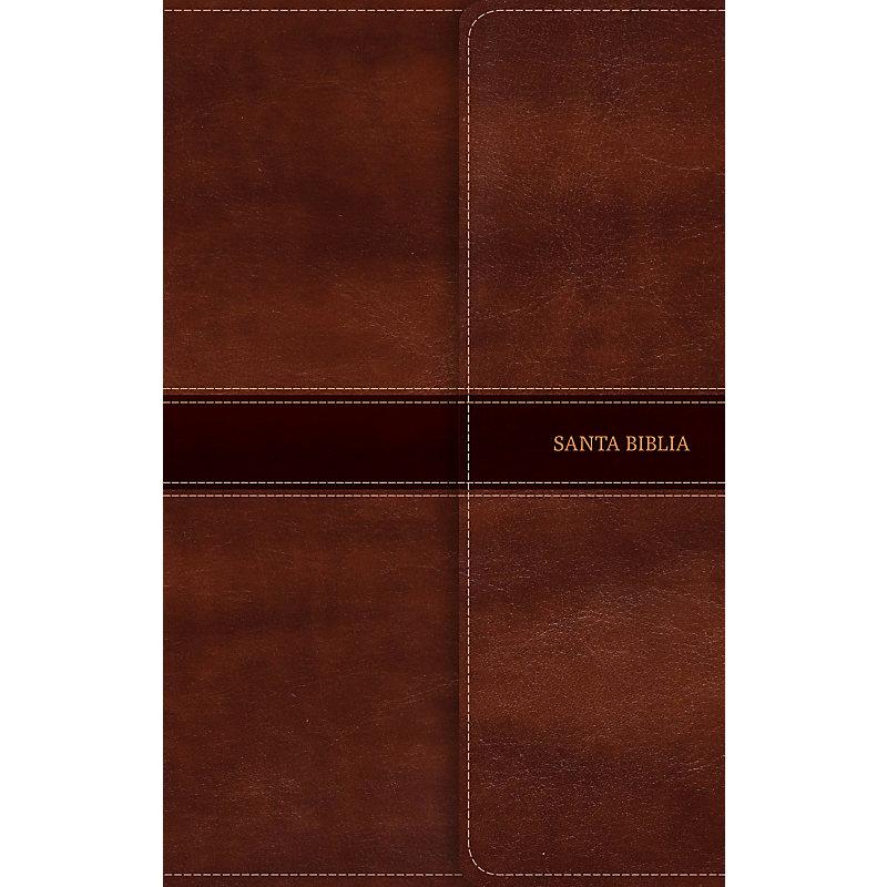 NVI Biblia Ultrafina, marrón símil piel y solapa con imán