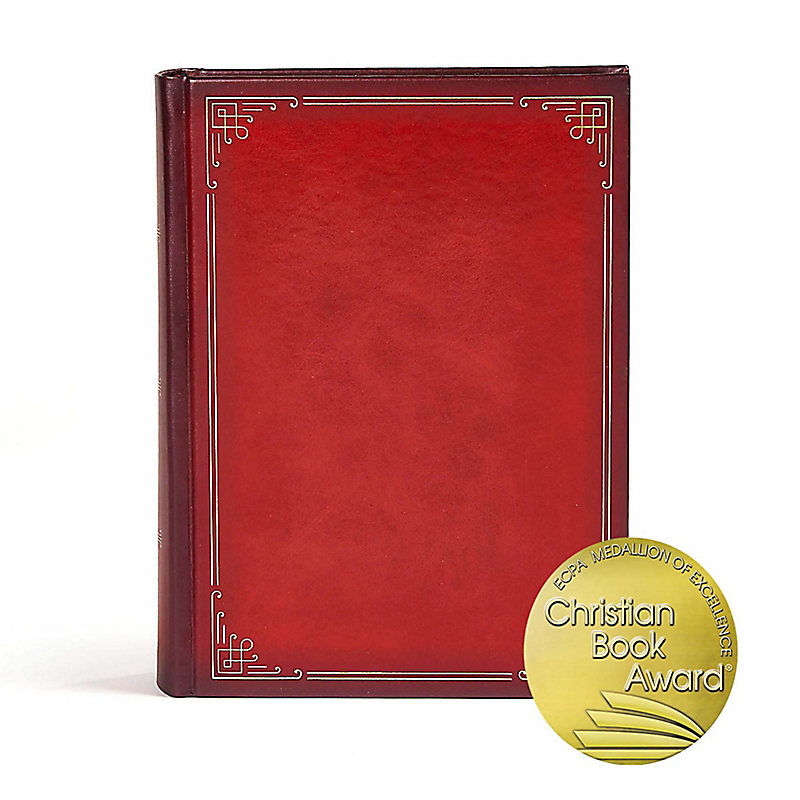 CSB Ancient Faith Study Bible, Crimson LeatherTouch-Over-Board