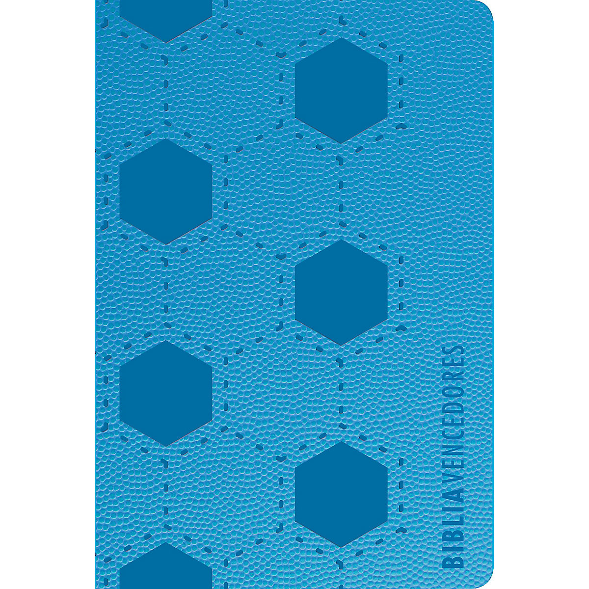 RVR 1960 Biblia vencedores, azul símil piel
