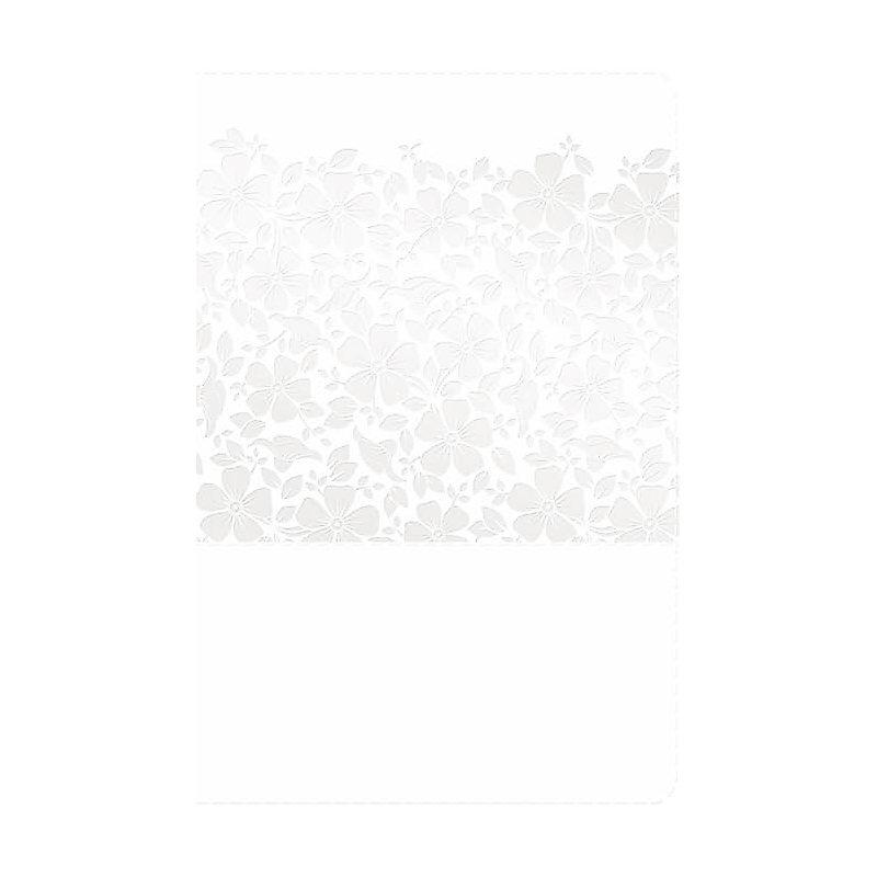 RVR 1960 Biblia Recuerdo de Boda, blanco floral símil piel