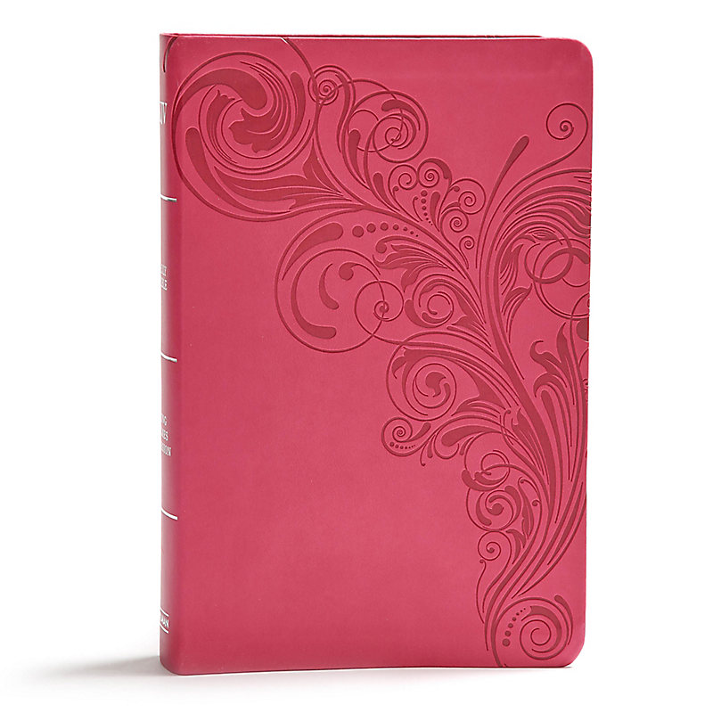 KJV Giant Print Reference Bible, Pink LeatherTouch