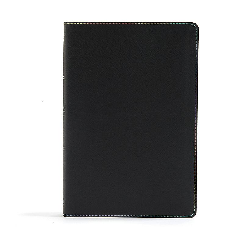 KJV Rainbow Study Bible, Black LeatherTouch, Indexed