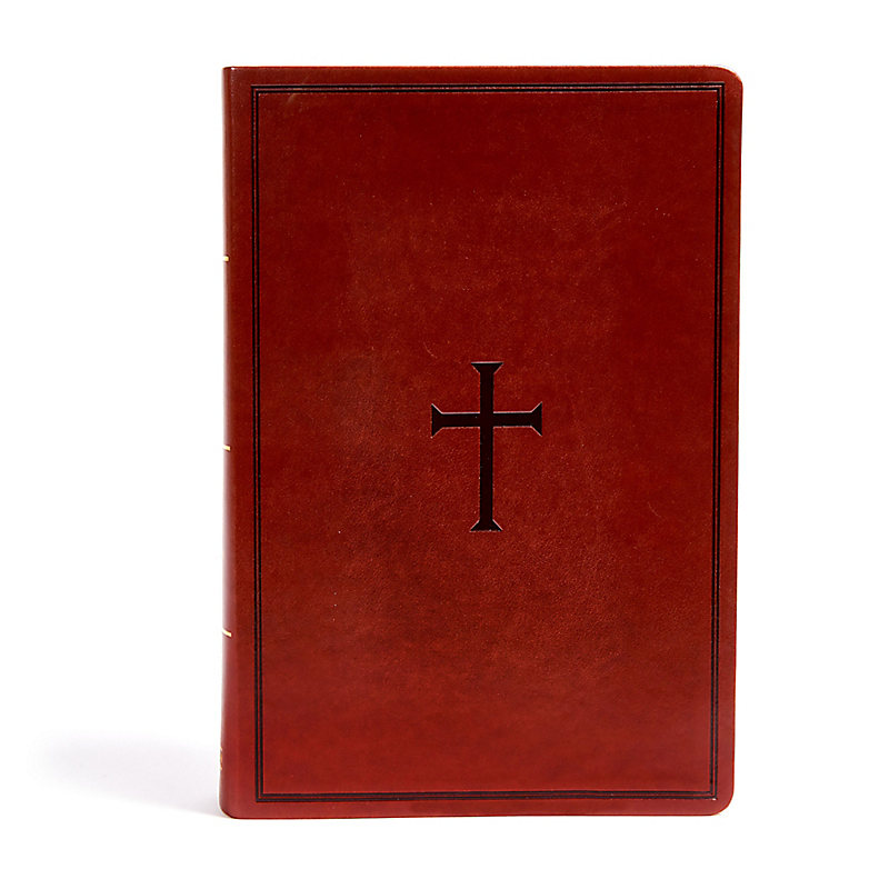KJV Super Giant Print Reference Bible, Brown LeatherTouch, Indexed