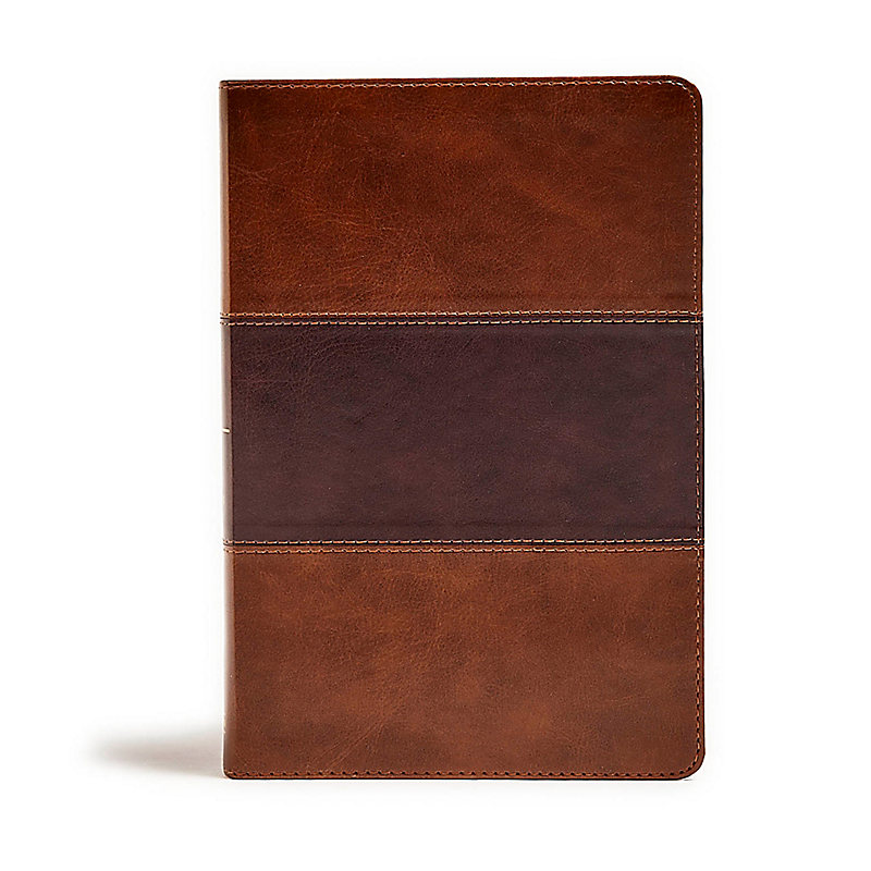 KJV Giant Print Reference Bible, Saddle Brown LeatherTouch, Indexed