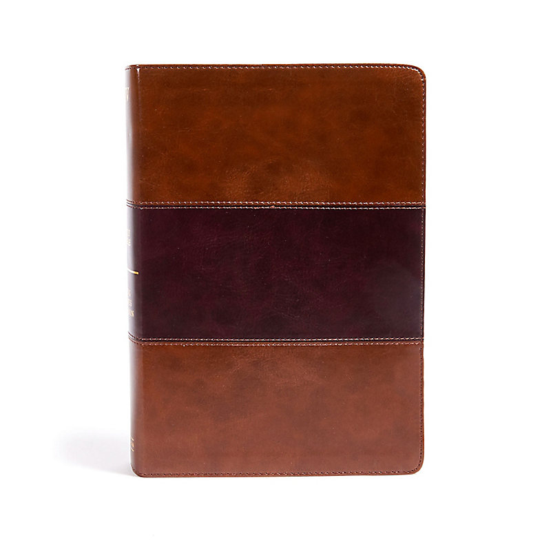 KJV Super Giant Print Reference Bible, Saddle Brown LeatherTouch, Indexed