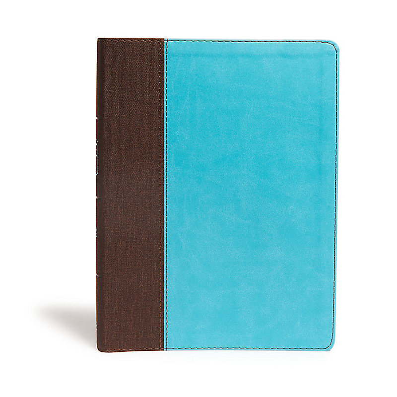 CSB Life Essentials Interactive Study Bible, Brown/Sky LeatherTouch, Indexed