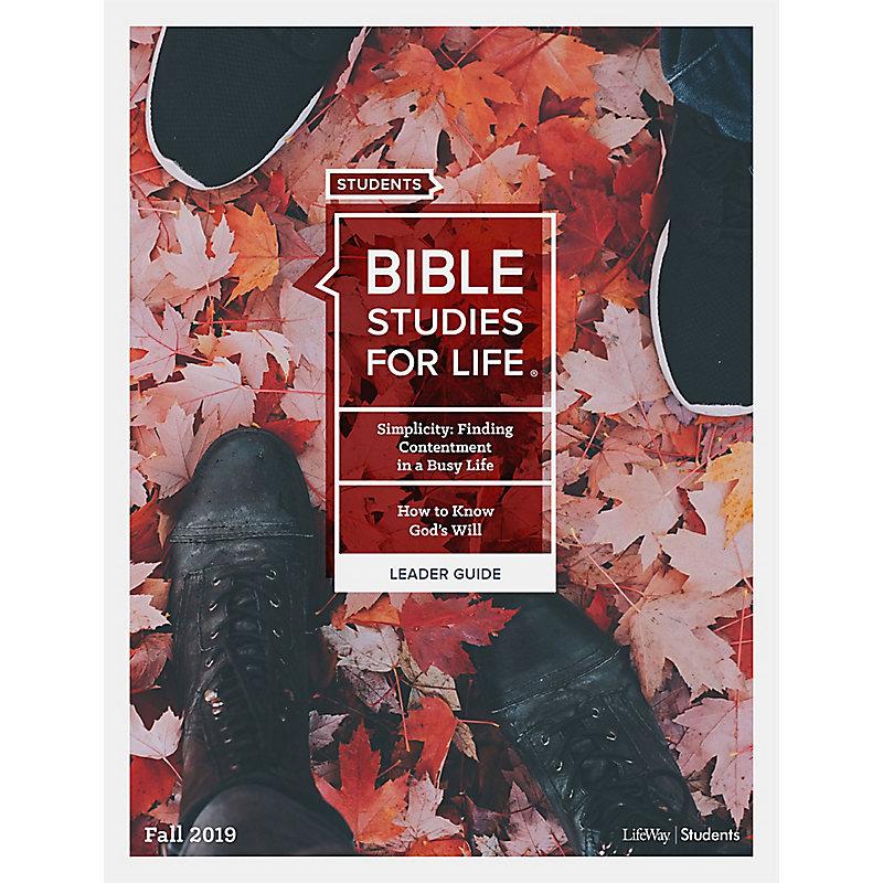 Bible Studies For Life: Student Leader Guide KJV Fall 2019 e-book