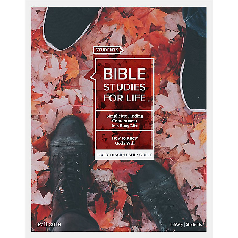 Bible Studies For Life: Student Daily Discipleship Guide NIV  Fall 2019