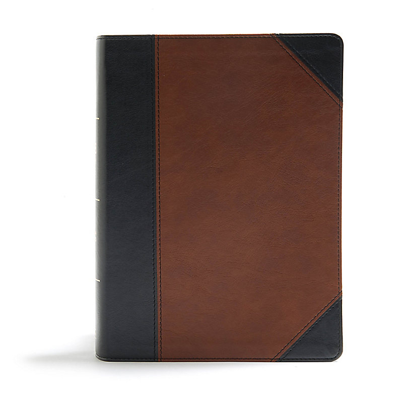CSB Study Bible, Black/Brown LeatherTouch, Indexed
