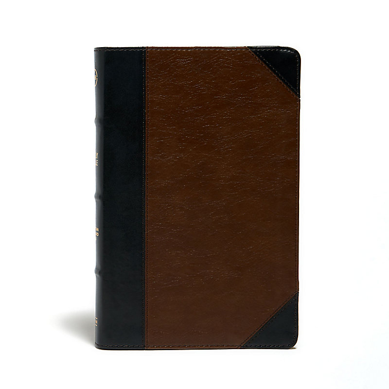 CSB Ultrathin Reference Bible, Black/Brown LeatherTouch, Deluxe Edition