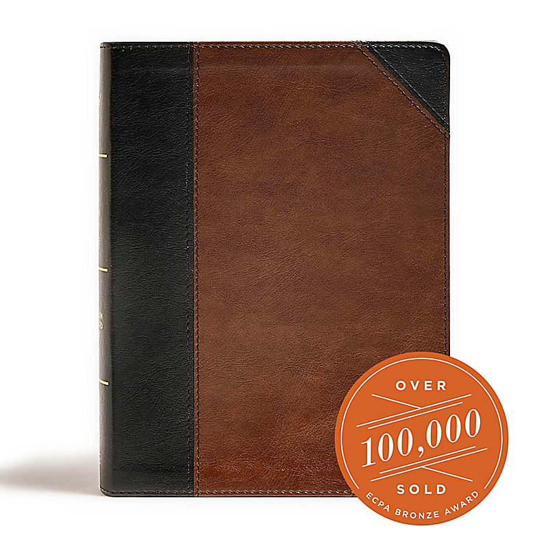 CSB Tony Evans Study Bible, Black/Brown LeatherTouch