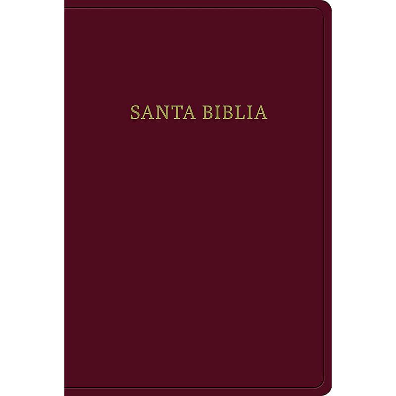 RVR 1960 Biblia letra gigante, borgoña imitación piel
