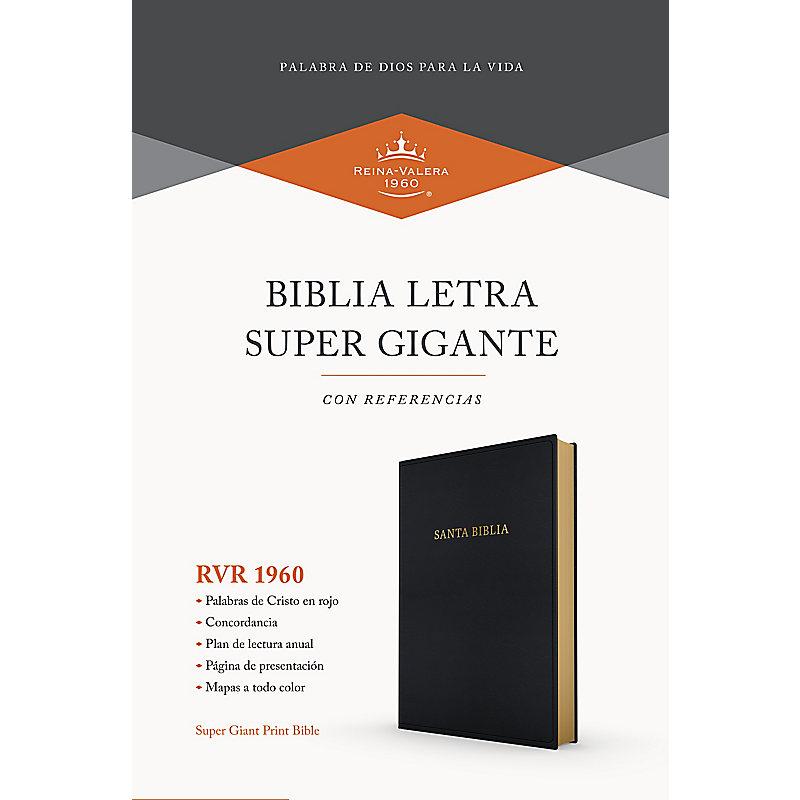 RVR 1960 Biblia letra súper gigante, negro imitación piel