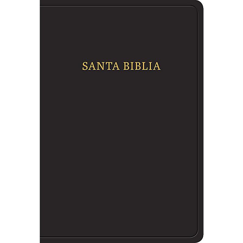 RVR 1960 Biblia letra grande tamaño manual, negro imitación piel