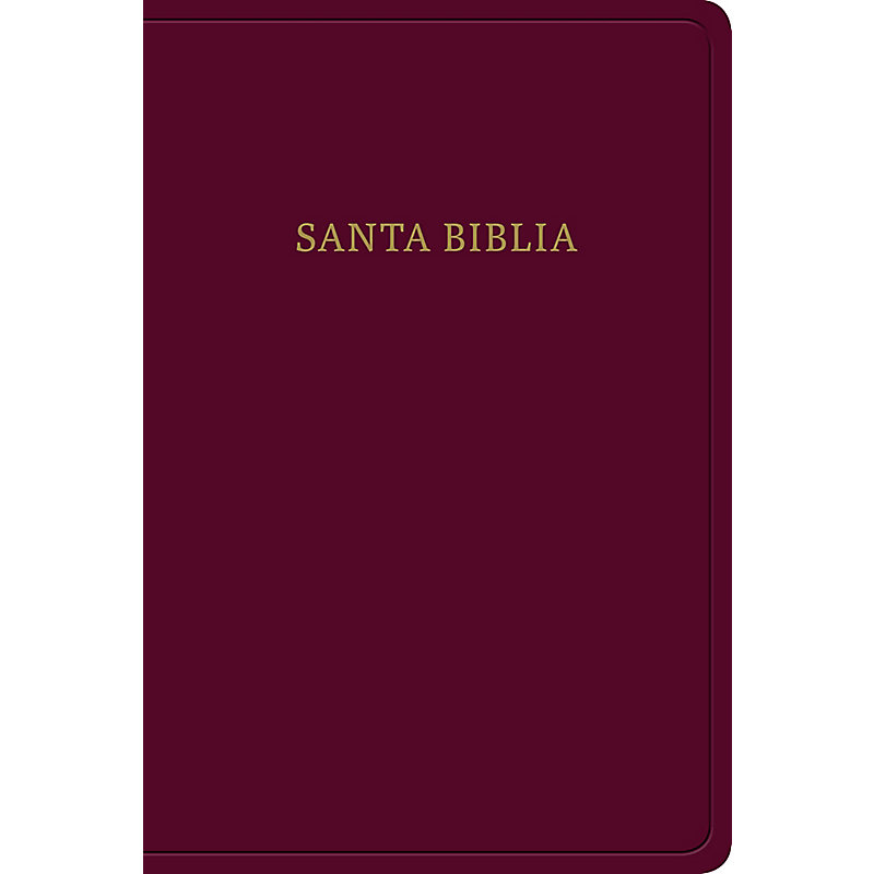 RVR 1960 Biblia letra grande tamaño manual, borgoña imitación piel