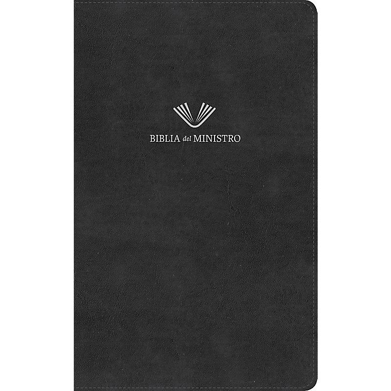 RVR 1960 Biblia del ministro, negro piel fabricada
