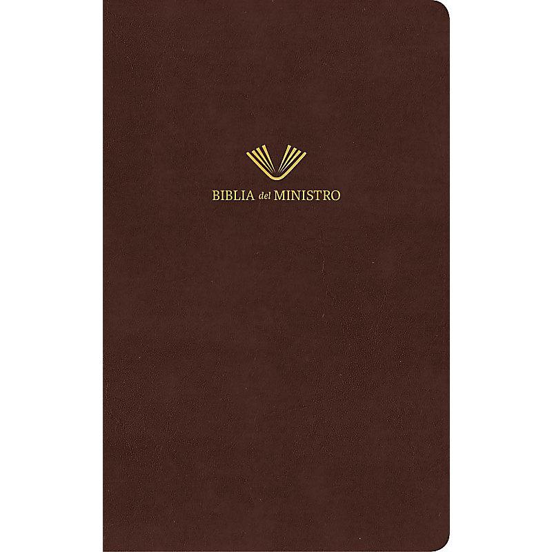 RVR 1960 Biblia del ministro, caoba fino piel fabricada
