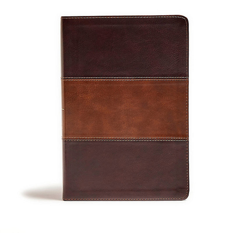 KJV Giant Print Reference Bible, Classic Mahogany LeatherTouch, Indexed