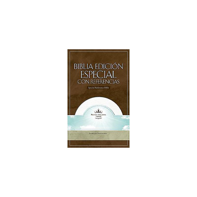 RVR 1960 Biblia con Referencias, blanco piel fabricada con índice