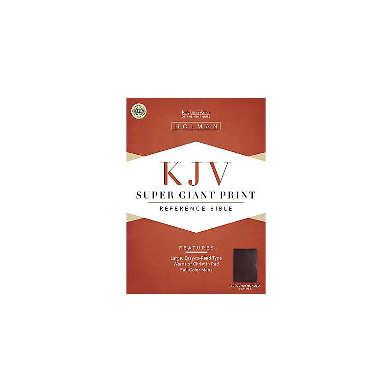KJV Super Giant Print Reference Bible, Burgundy Bonded Leather