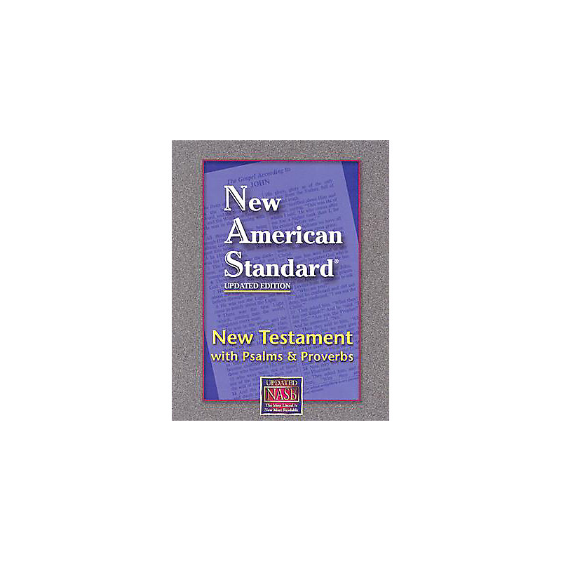 New Testament with Psalms and Proverbs-NAS-Pocket Size (Black)