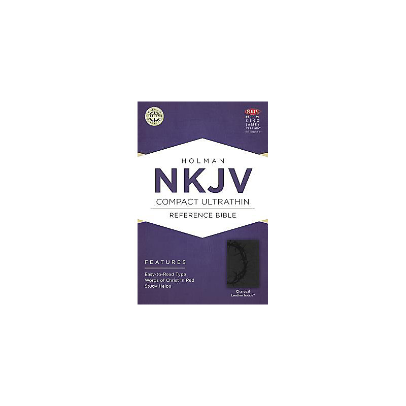 NKJV Compact Ultrathin Bible, Charcoal LeatherTouch