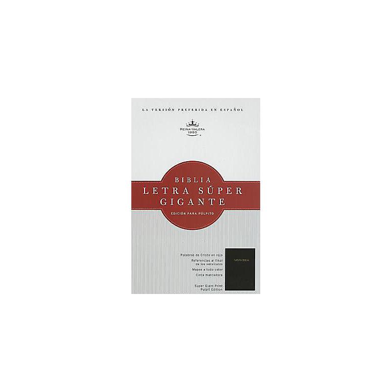 RVR 1960 Biblia Letra Súper Gigante para púlpito, negra acolchonada tapa dura