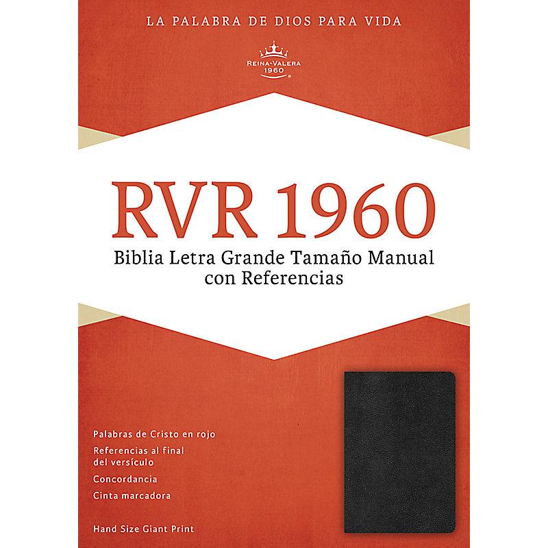 RVR 1960 Biblia Letra Grande Tamaño Manual, negro imitación piel con índice