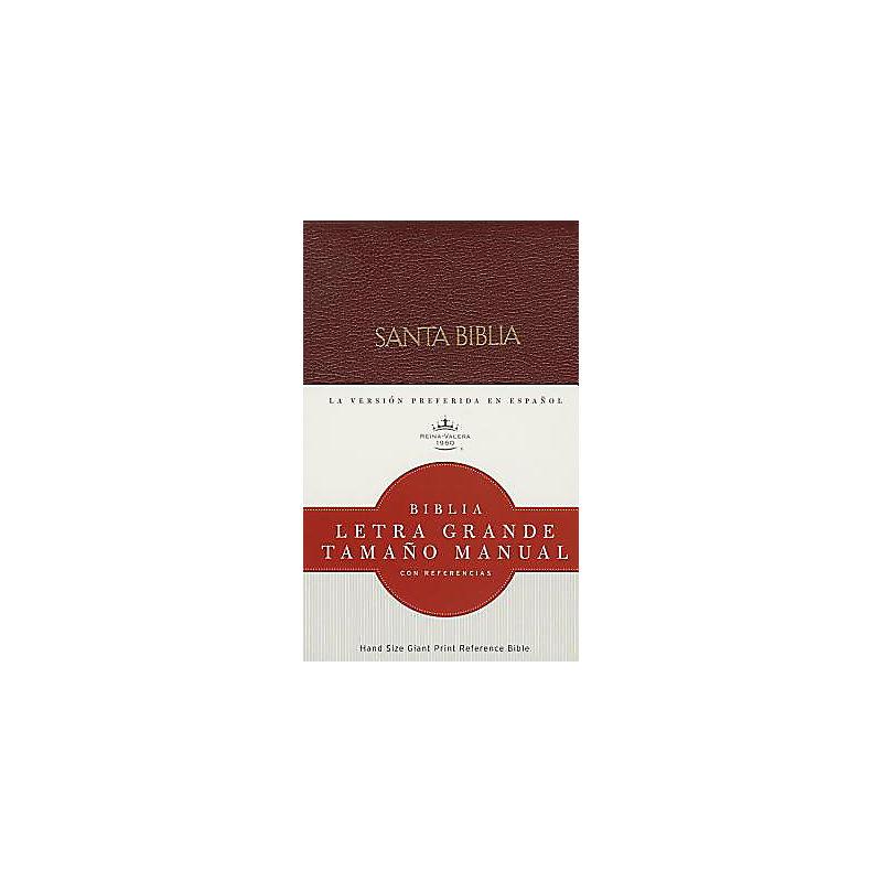 RVR 1960 Biblia Letra Grande Tamaño Manual, borgoña imitación piel con índice